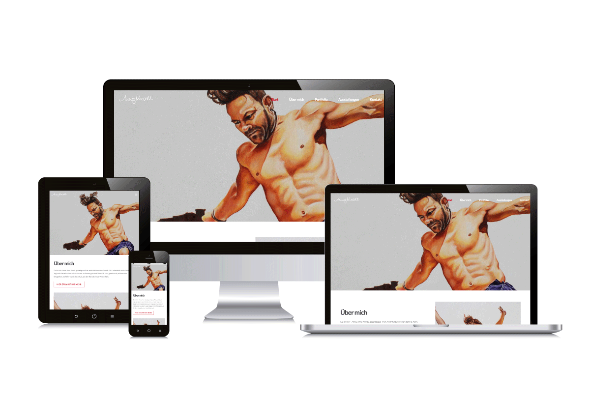 Beispiel Webseite Wordpress
